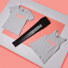 Puma Logo Print T Shirt Junior Girls