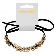 Golddigga Letter Bracelet Ladies