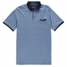 D555 Flint Stripe Polo Shirt Mens