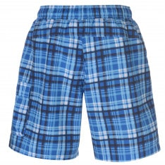 Lonsdale 2 Stripe Checked Shorts Mens
