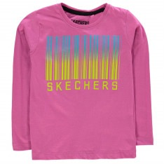 Skechers Long Sleeve Graphic T Shirt Junior Girls