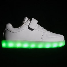 Fabric LED Childrens Trainers