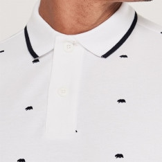 SoulCal All Over Pattern Bear Polo