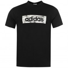 Adidas Camo Linear T Shirt Mens