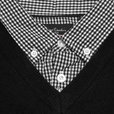 Pierre Cardin Mock V Neck Knit Mens