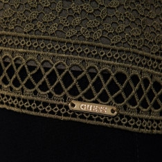 Guess Lace Overlay T Shirt