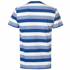 Pierre Cardin Y Neck Stripe T Shirt Mens