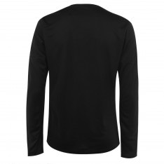 Adidas 3 Stripe Long Sleeve T Shirt Mens