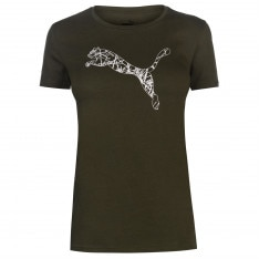 Puma Cat Logo T Shirt Ladies