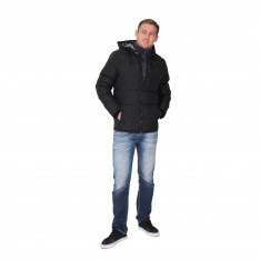 Lee Cooper Two Zip Padded Jacket Mens