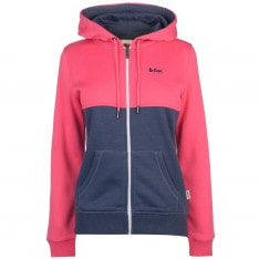 Lee Cooper Cut and Sew Zip Hoodie Ladies