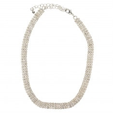 Golddigga Diamante Choker Ladies