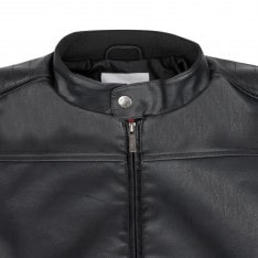 Lee Cooper PU Biker Jacket Mens