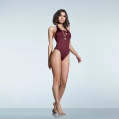 Firetrap Lace Up Swimsuit Ladies