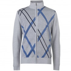 Pierre Cardin Full Zip Argyle Knit Mens