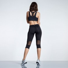 SportFX Mesh Panel Capri Tights Ladies