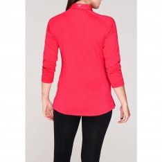 Callaway Stripe Zip Polo Shirt Ladies