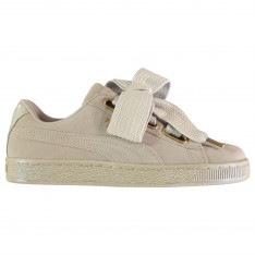 Puma Heart Suede Trainers Ladies