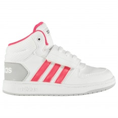 Adidas Hoops Infant Girls Mid Top Trainers