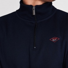 Lee Cooper Dia Quarter Zip Sweater Mens
