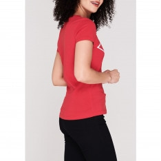 Lee Cooper Large Logo T Shirt Ladies