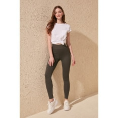 Trendyol Grey High Waist Recovery Knitted Tights