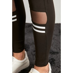 Trendyol Black File Detailed Knitted Tights