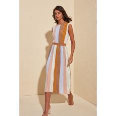Ženska haljina Trendyol Glitter Striped