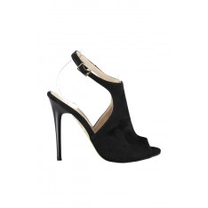 Trendyol Black Suede Women's High Heels Shoes