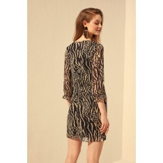 Trendyol Black Patterned Dress