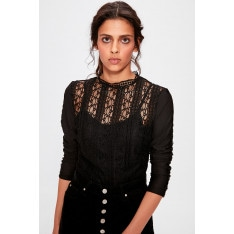 Trendyol Black Lacy Knitted Blouse