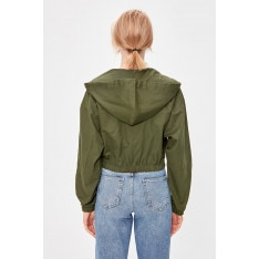 Trendyol Khaki Hooded Coat