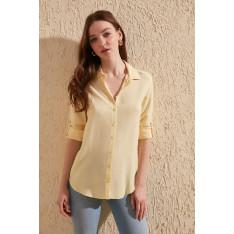 Trendyol Yellow Basic Shirt