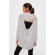 Trendyol Grey Back Detailed Sports Sweatshirt