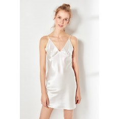 Trendyol Ecru Satin nightgown Dress