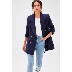 Trendyol Navy Blue Oversize Jacket