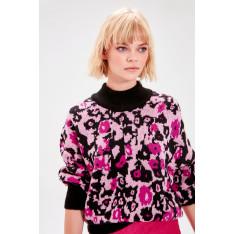 Trendyol Black Patterned Knitwear Sweater