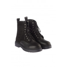 Trendyol Black Suede Detailed Women's Boots