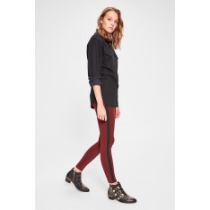 Trendyol Burgundy Striped Knitted Tights