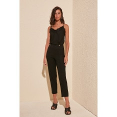 Trendyol Black Stud Detailed Pants