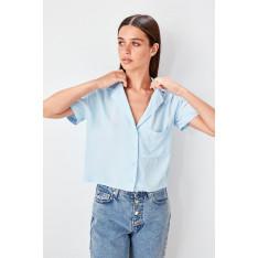 Trendyol Blue Short Sleeve Shirt
