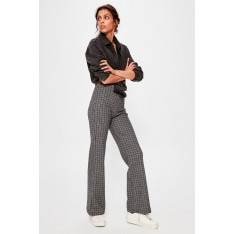 Trendyol Black Checked Knitted Pants