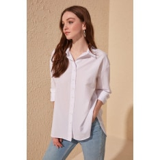 Trendyol White Loose Fit Shirt