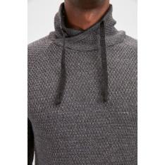Trendyol Grey New Male Degaje Collar Sweater New