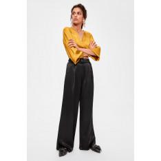 Trendyol Black Belt Detailed Pants