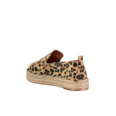 Trendyol Brown Leopard-Woman Thai Hair Espadril