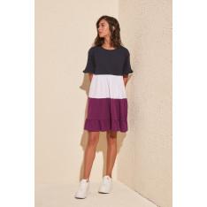 Dámske šaty Trendyol Pucker Detailed Knitting