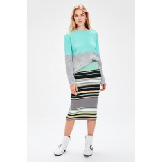 Trendyol Mint Colorblock Knitwear Sweater