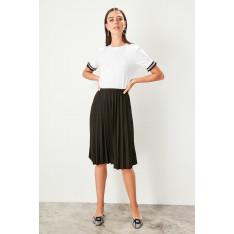 Trendyol Black Pilise Knitted Skirt