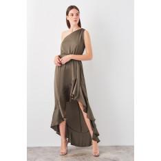 Trendyol Khaki One Shoulder Knitted Blouse